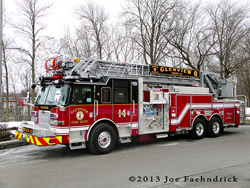 Glenview Fire Department new ladder truck Pierce heavy-duty ladder