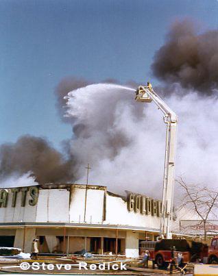 Glenbrook FPD Pierce Snorkel working at fire scene