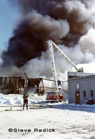 American LaFrance Aero Chief Snorkel at fire scene