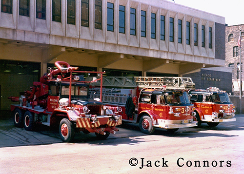Chicago Fire Department fire trucks