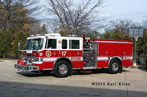 Skokie Fire Department reserve engine
