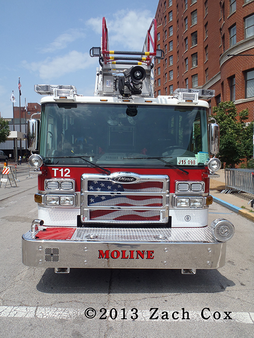 new fire truck for Moline Fire Department