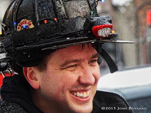 Chicago fireman closeup