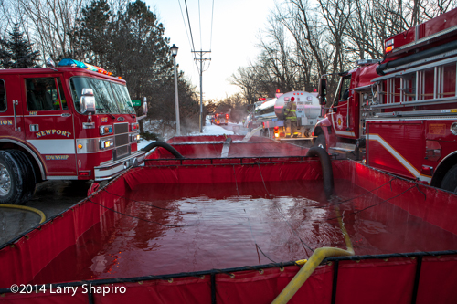 fire department shuttle water to fire scene