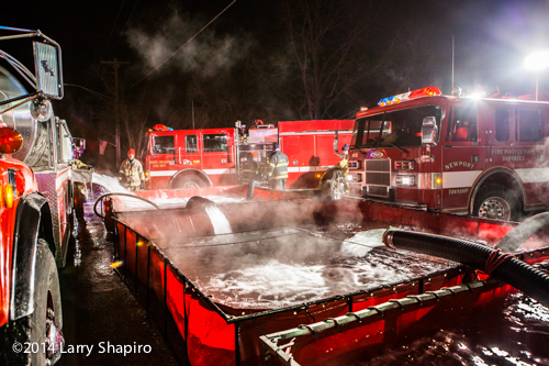 rural water supply at winter fire scene