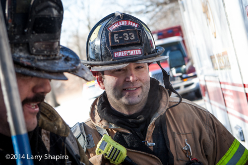 Highland Park fireman after fire