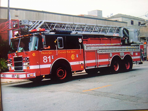 fictitious Chicago Fire Department ladder truck
