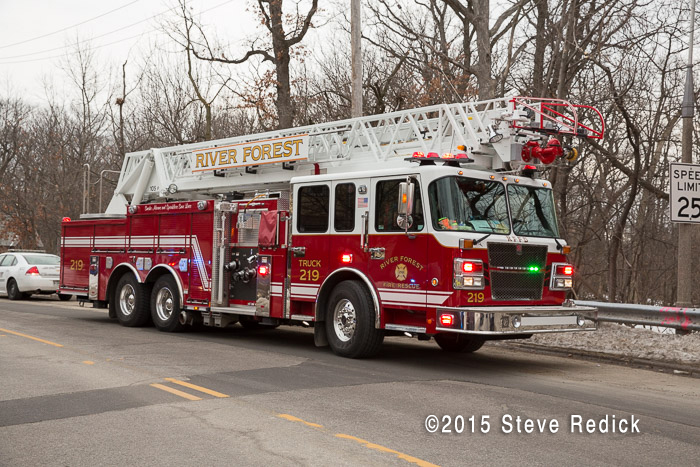 River Forest Fire Department fire truck