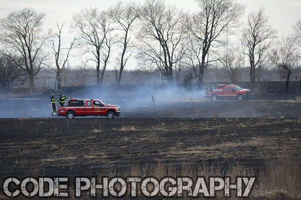 grass fire scorches several acres
