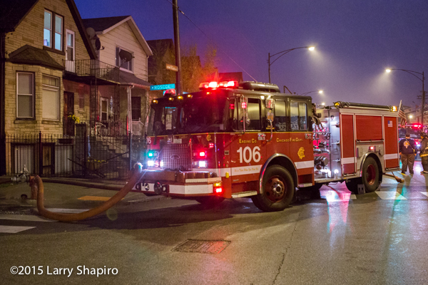 Chicago FD Engine 106 on a hydrant