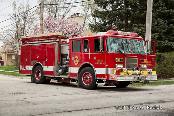 Niles Fire Department fire engine