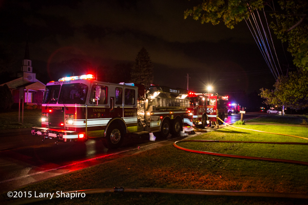 fire department tenders nursing an engine