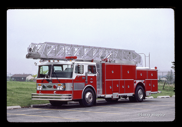 1983 Emergency One aerial with a Spartan CFC chassis