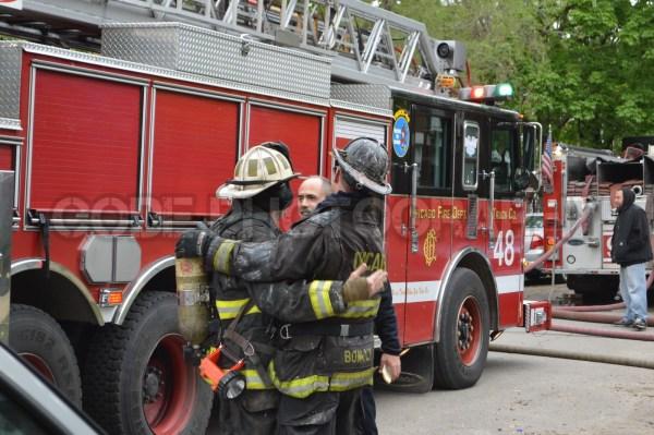 firemen after a fire