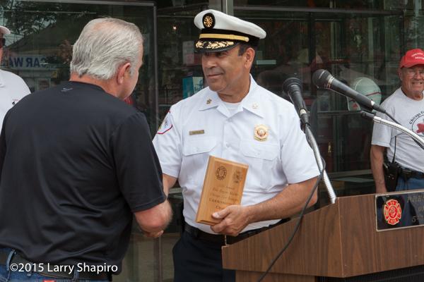 Chicago FD Commissioner Jose A. Santiage