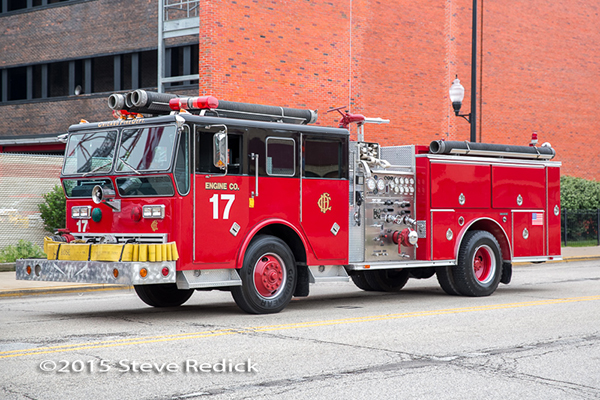 former Backdraft movie fire engine