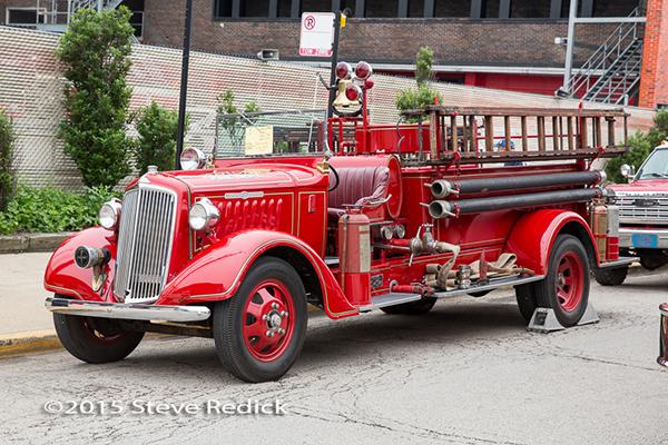 restored antique fire engine