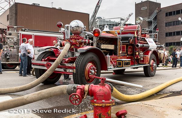 Former Chicago FD 1928 Ahrens Fox fire engine
