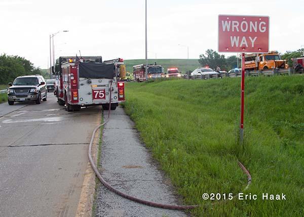 fire engine off highway ramp