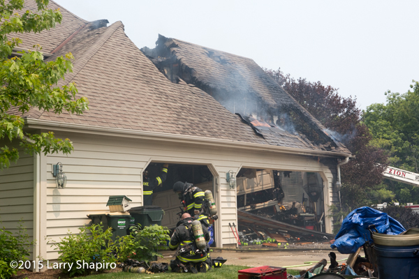 house heavily damage by fire