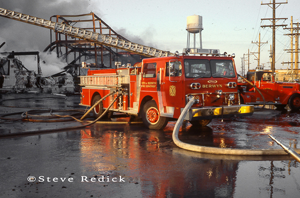 Berwyn Fire Department at the Hawthorne Race Track grandstand fire of 1978