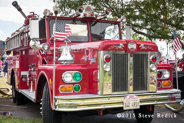 classic antique Maxim fire engine