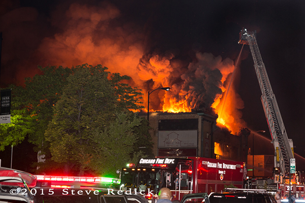 bowling alley fire in Chicago