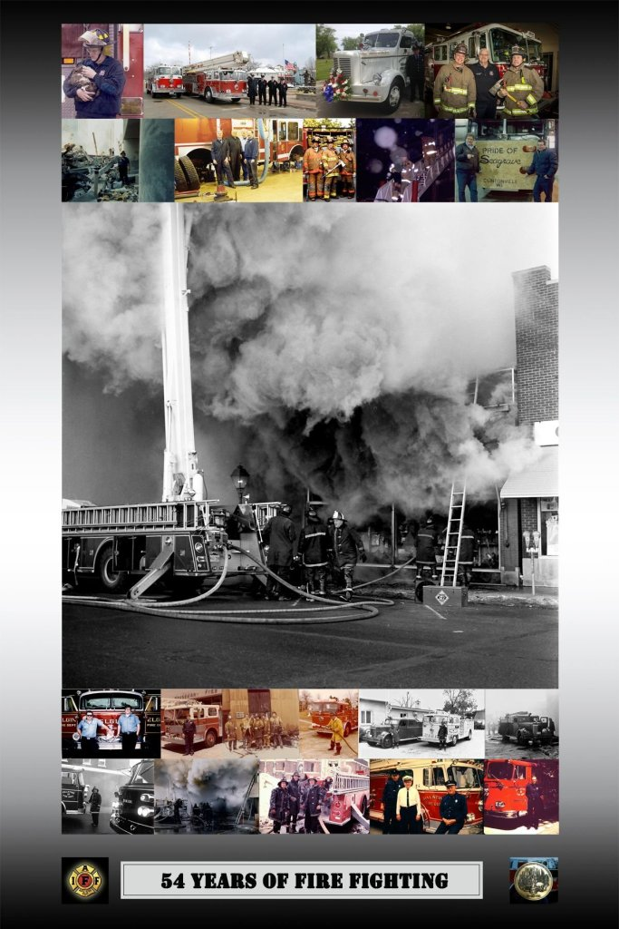 montage of a firefighter's career