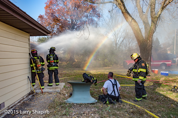 rainbow at house fire scene