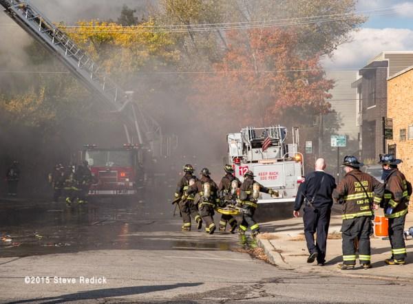 RIT team moves in at fire sene