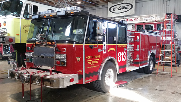 new E-ONE Cyclone II fire engine