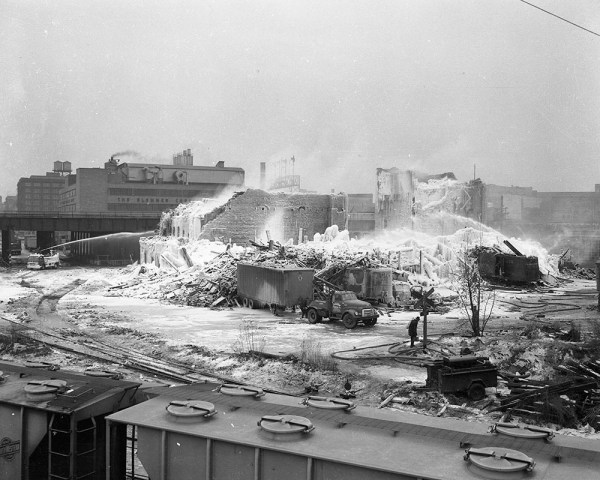 Ruins of the Hubbard Street fire. Eric Haak collection