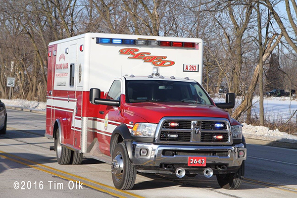 Round Lake FD ambulance
