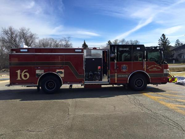 new fire engine for the Rolling Meadows FD