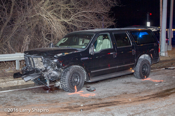 Ford Excursion after serious crash
