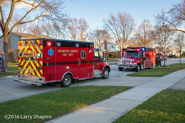 Arlington Heights ambulances on scene