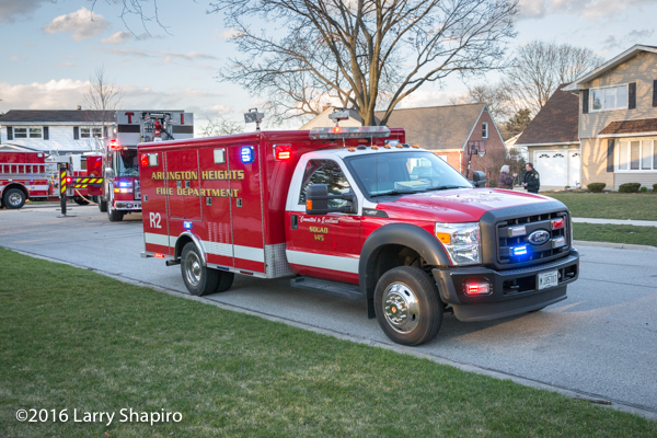 Arlington Heights fire truck on scene