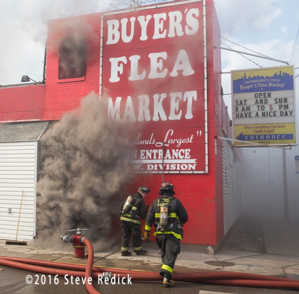 Chicago firefighter at fire scene