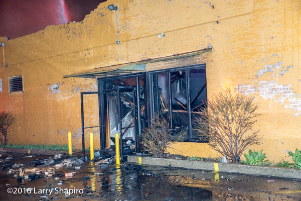 aftermath of commercial building fire