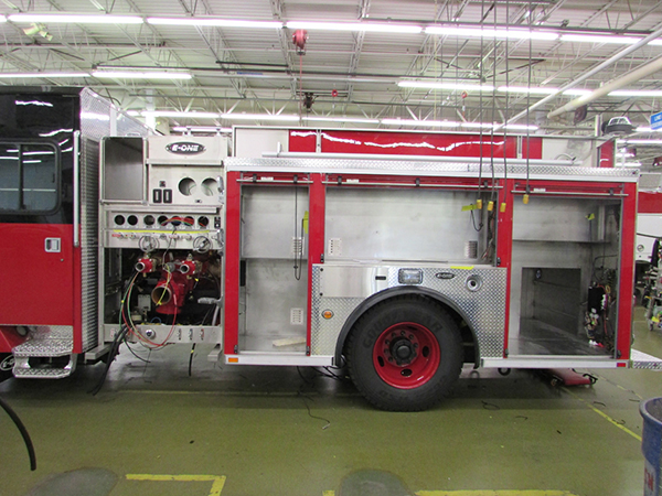 fire engine being built for Chicago