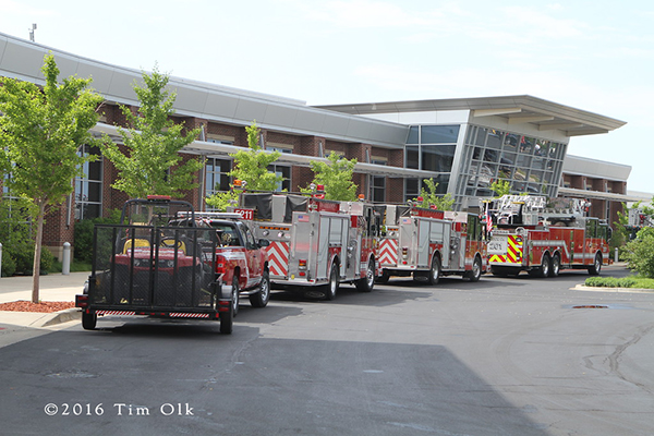 Tinley Park fire trucks