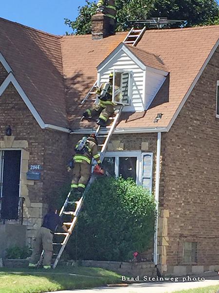 house fire scene in Lansing IL
