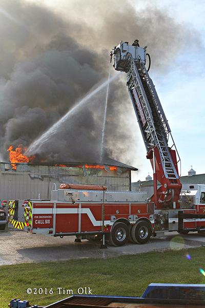 Kenosha Fire Department Sutphen tower ladder