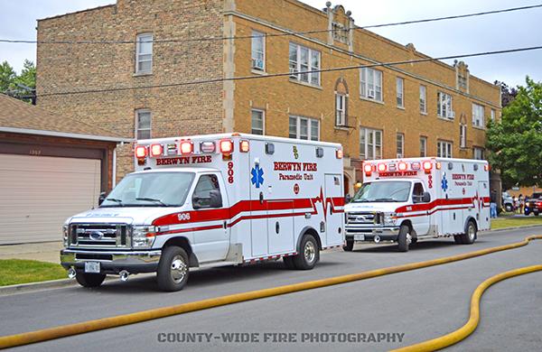 Berwyn FD ambulances