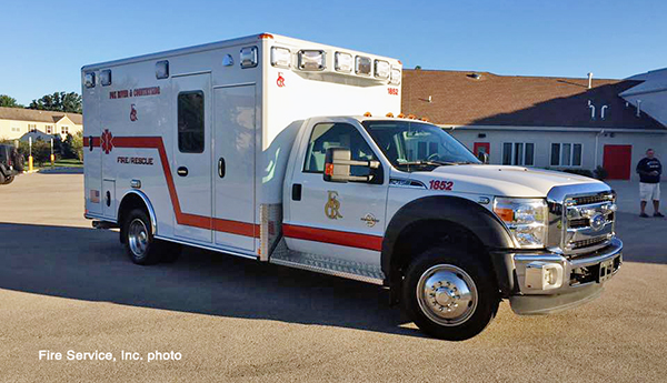 Fox River and Countryside Fire/Rescue District ambulance