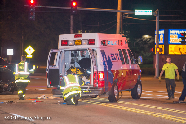 Elite Ambulance after crash