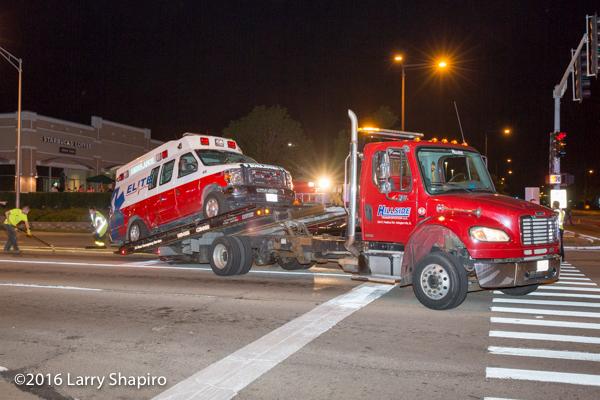 Hillside Towing Company at crash site
