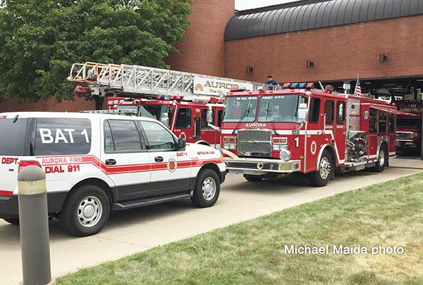 Aurora FD fire apparatus