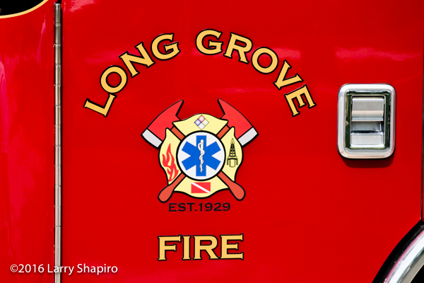 Long Grove Fire District decal and graphics