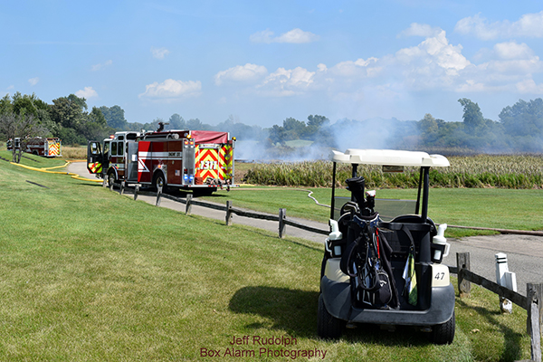 brush fire in Gurnee